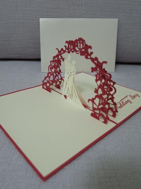 День любимый, киригами открытки на свадьбу